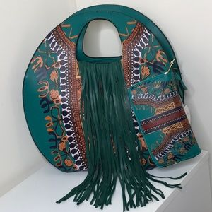 Gorgeous teal green tote